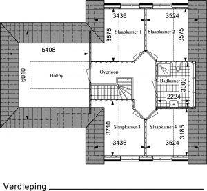 Type RW03 verdieping