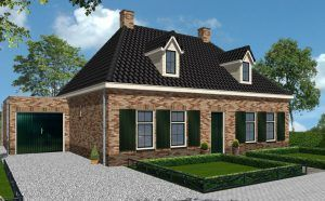 schets van een woning van Rowecobouw