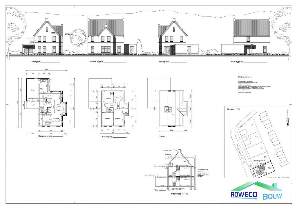 Plattegronden van woningen uitgewerkt door roweco bouw for Plattegrond woning