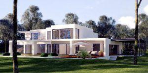 Woning met een plat dak