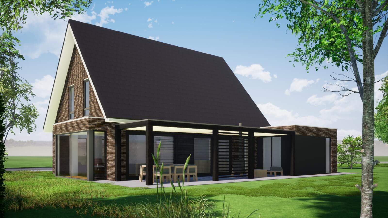 3D schets Woning Hilvarenbeek